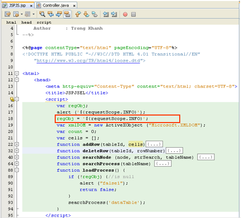 Kieu Trong Khanh: Dữ liệu được request từ server và chuyển